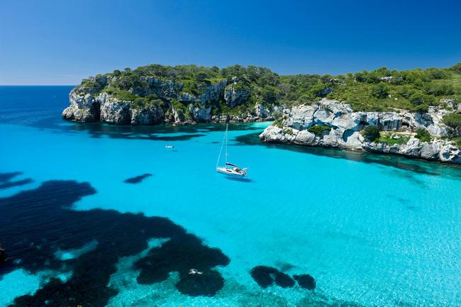 Turquoise waters at Cala Macarelleta, Menorca
