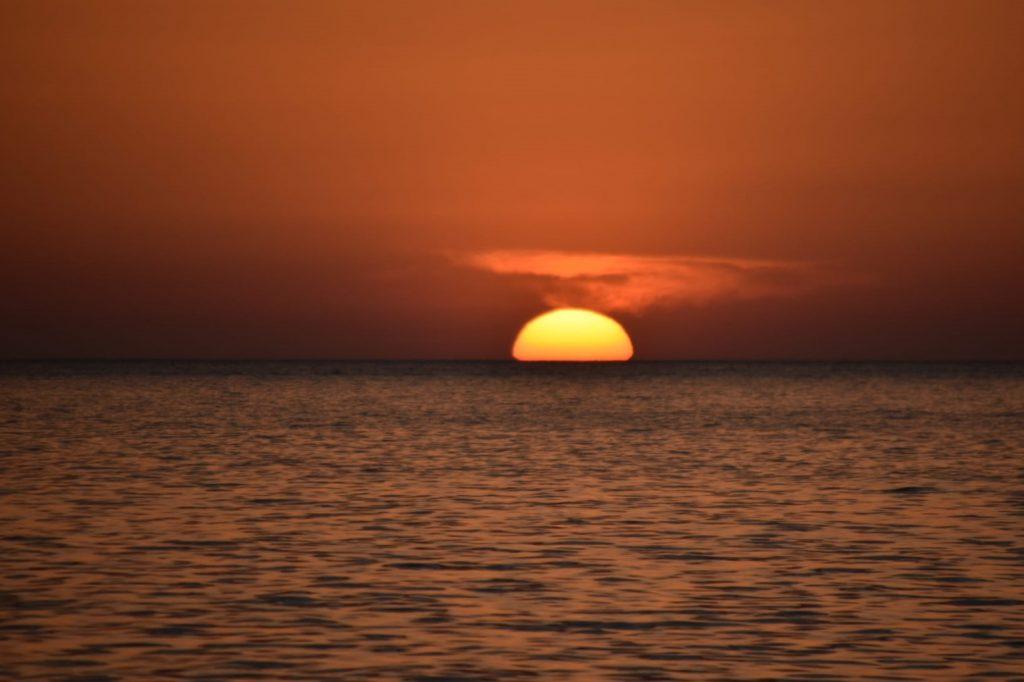 Sunset during an idyllic week sailing around Menorca