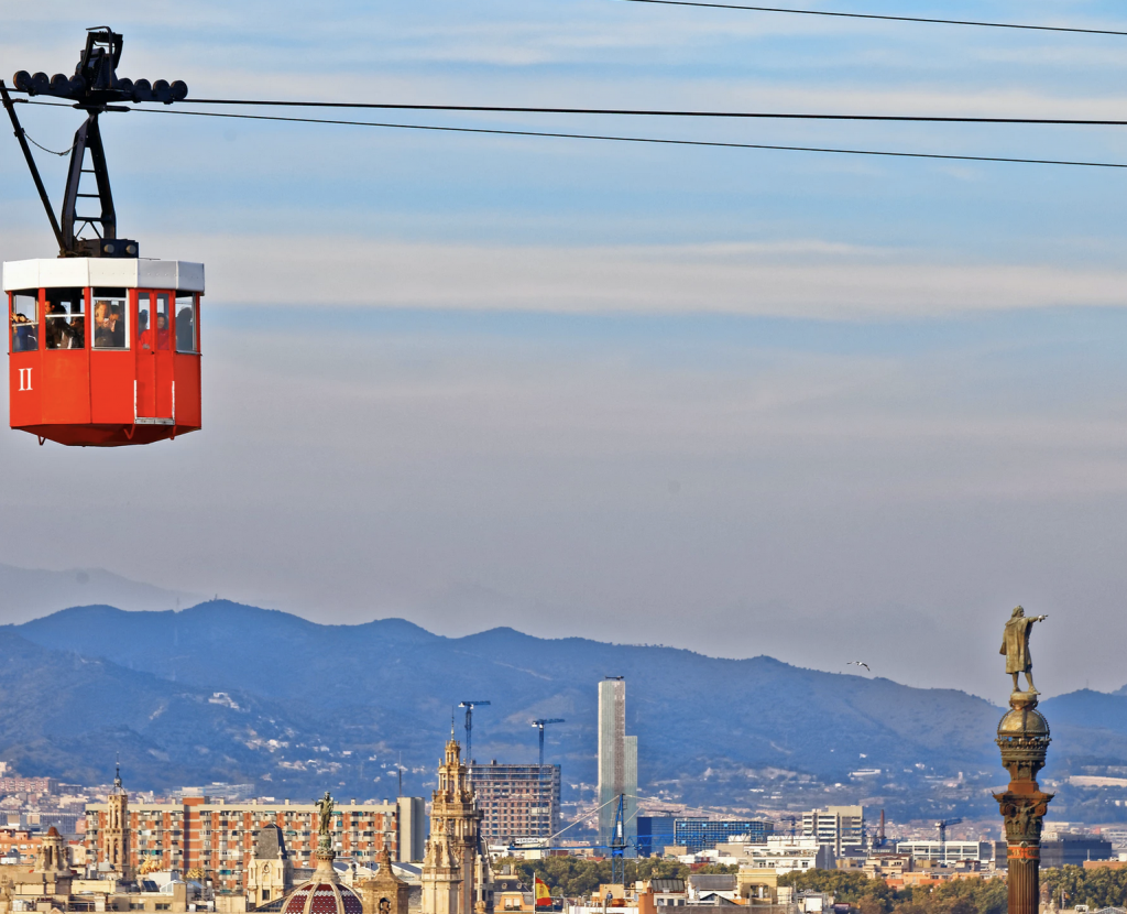 Barcelona from the sky, the port teleferic