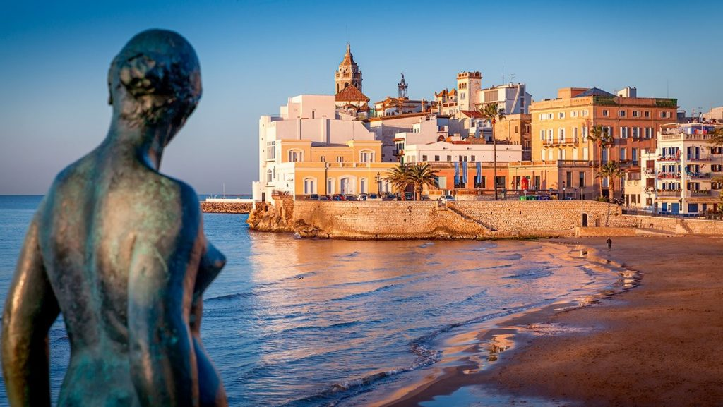 Sitges, a seaside town with beach, restaurants, shopping. Off-shore excursion from Barcelona